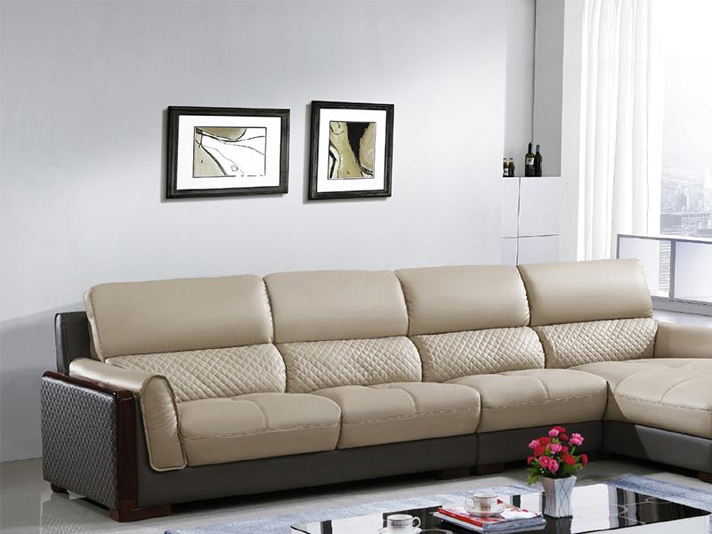 卡門L型皮沙發